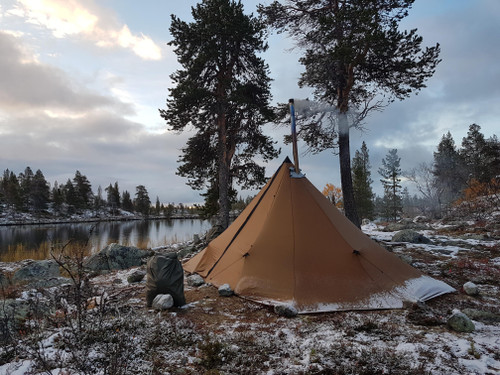 Redcliff Hot Tent Winter Camping