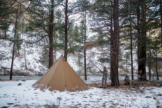 ... 8 Person Tipi Hot Tent Brown ... & 8 Person Ultralight Tipi Wood Stove Combo
