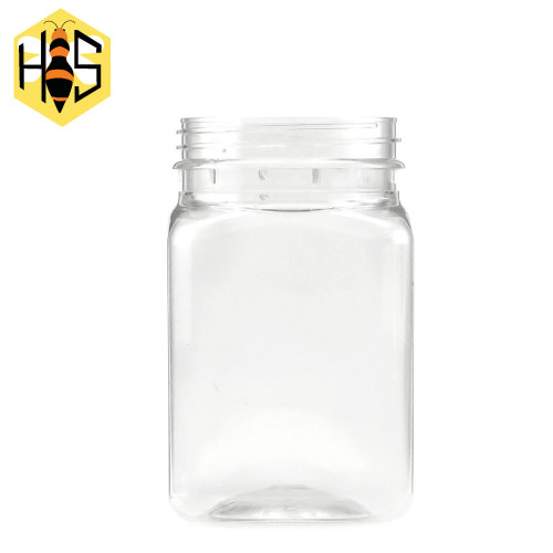 400ml Square PET jar