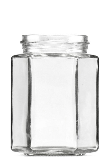 300ml hexagonal glass jar