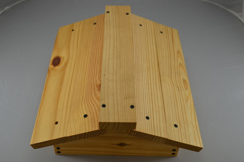 Native bee hive lid