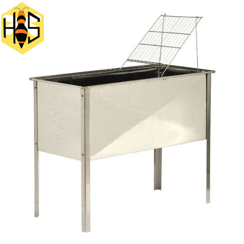 Tray uncapping Stainless Steel with Lid 104x51x40 CM