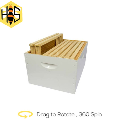 Assembled-Super-Honey Box With Assembled Wired Frames 10 Frames
