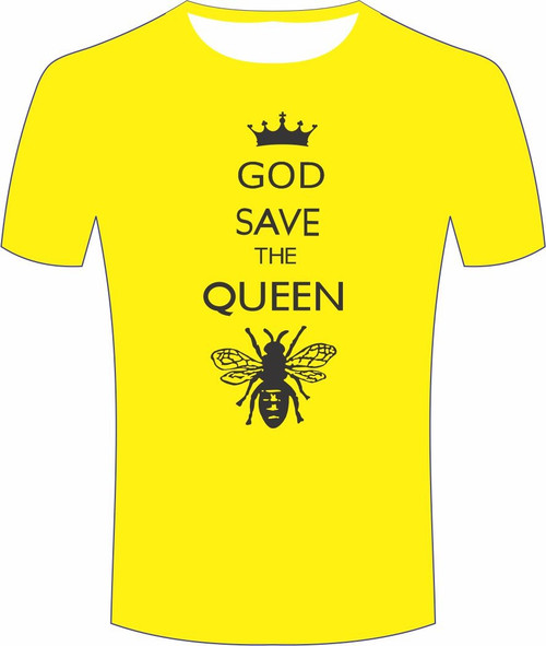 T Shirt Yellow -God save the queen
