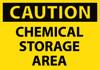 CAUTION, CHEMICAL STORAGE AREA, 3X5, PS VINYL, 5/PK