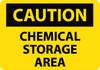 CAUTION, CHEMICAL STORAGE AREA, 10X14, RIGID PLASTIC