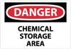 DANGER, CHEMICAL STORAGE AREA, 10X14, FIBERGLASS