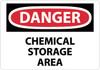 DANGER, CHEMICAL STORAGE AREA, 10X14, RIGID PLASTIC