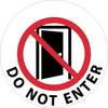 FLOOR SIGN, WALK ON, DO NOT ENTER, 17 DIA PS VINYL
