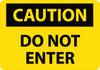 CAUTION, DO NOT ENTER, 10X14, RIGID PLASTIC