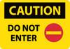CAUTION, DO NOT ENTER, GRAPHIC, 14X20, .040 ALUM
