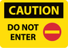 CAUTION, DO NOT ENTER, GRAPHIC, 14X20, RIGID PLASTIC