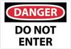 DANGER, DO NOT ENTER, 10X14, RIGID PLASTIC