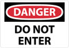 DANGER, DO NOT ENTER, 14X20, RIGID PLASTIC