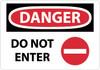 DANGER, DO NOT ENTER, GRAPHIC, 10X14, RIGID PLASTIC