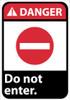 DANGER, DO NOT ENTER, 14X10, .040 ALUM