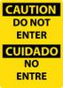 DANGER, DO NOT ENTER, BILINGUAL, 14X10, .040 ALUM