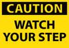 CAUTION, WATCH YOUR STEP, 3X5, PS VINYL, 5/PK