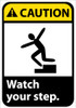 CAUTION, WATCH YOUR STEP (W/GRAPHIC), 14X10, .040 ALUM