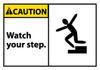 CAUTION, WATCH YOUR STEP (GRAPHIC), 3X5, PS VINYL, 5/PK