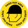 "FLOOR SIGN, WALK ON, HARD HAT AREA, 17"" DIA"