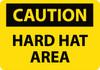 CAUTION, HARD HAT AREA, 14X20, .040 ALUM