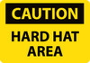 CAUTION, HARD HAT AREA, 7X10, PS VINYL