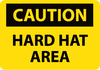 CAUTION, HARD HAT AREA, 14X20, PS VINYL
