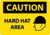 CAUTION, HARD HAT AREA, GRAPHIC, 14X20, .040 ALUM