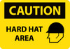 CAUTION, HARD HAT AREA, GRAPHIC, 20X28, .040 ALUM