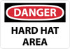 DANGER, HARD HAT AREA, 20X28, .040 ALUM