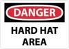 DANGER, HARD HAT AREA, 7X10, RIGID PLASTIC