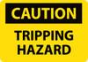 CAUTION, TRIPPING HAZARD, 7X10, RIGID PLASTIC