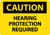 CAUTION, HEARING PROTECTION REQUIRED, 10X14, .040 ALUM