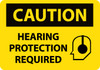 CAUTION, HEARING PROTECTION REQUIRED, GRAPHIC, 7X10, .040 ALUM