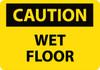 CAUTION, WET FLOOR, 10X14, RIGID PLASTIC