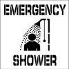 STENCIL, EMERGENCY SHOWER, 24X24