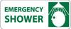 EMERGENCY SHOWER (W/ GRAPHIC), 7X17, PS VINYL