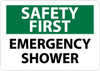 SAFETY FIRST, EMERGENCY SHOWER, 10X14, RIGID PLASTIC