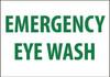 EMERGENCY EYE WASH, 10X14, PS VINYL