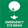 EMERGENCY EYE WASH (GRAPHIC), 4X4, PS VINYL, 5/PK