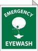 EMERGENCY EYE WASH, FLANGED, 10X8, RIGID PLASTIC