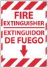 FIRE EXTINGUISHER, BILINGUAL, 14X10, .040 ALUM