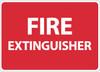 FIRE EXTINGUISHER, 10X14, RIGID PLASTIC