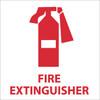 FIRE EXTINGUISHER (GRAPHIC), 4X4, PS VINYL, 5/PK