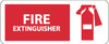 FIRE EXTINGUISHER (W/ GRAPHIC), 7X17, PS VINYL