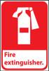 FIRE EXTINGUISHER (W/GRAPHIC), 10X7, RIGID PLASTIC