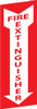 FIRE EXTINGUISHER, (VERTICAL) FLANGED, DOUBLE SIDED, 12X4, RIGID PLASTIC
