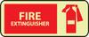 FIRE, FIRE EXTINGUISHER, GRAPHIC, 7X17, RIGID PLASTICGLOW