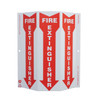 TRI-VIEW SLIM, FIRE EXTINGUISHER, 12X9, RECYCLE PLASTIC
